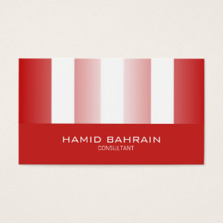 Red and White Stripes design Business Card