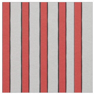 Red and White Stripes Fabric