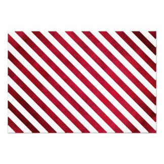 Red And White Stripes On Fabric Texture Photo Art