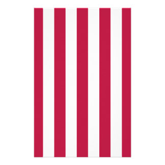 Red and White Stripes Stationery Paper