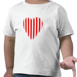 Red and White Stripes Tee Shirts
