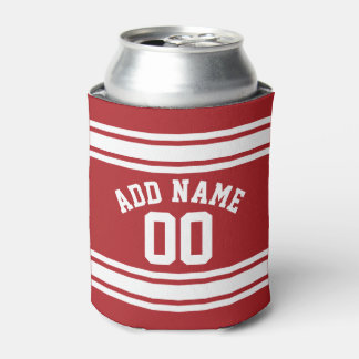 Red and White Stripes with Name and Number