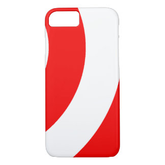 Red and White Swirls iPhone 7 Case