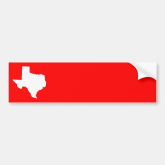 Red and White Texas Bumper Sticker