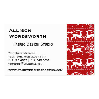 Red and White Traditional Christmas Deer Pack Of Standard Business Cards