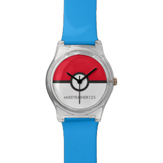 Red and White Trainer Wristwatches