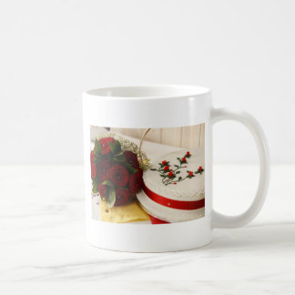 Red and White Wedding Cake Coffee Mug