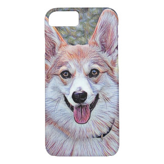 Red and White Welsh Corgi iPhone 7 Case