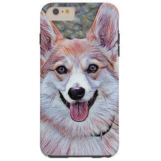 Red and White Welsh Corgi Tough iPhone 6 Plus Case