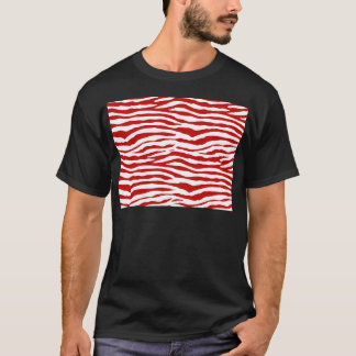 Red and White Zebra Stripes T-Shirt