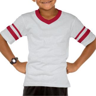Red and White Zebra Stripes T-shirt