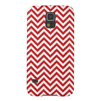 Red and White Zigzag Stripes Chevron Pattern Galaxy S5 Cases