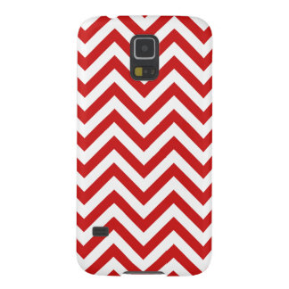 Red and White Zigzag Stripes Chevron Pattern Galaxy S5 Covers