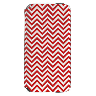 Red and White Zigzag Stripes Chevron Pattern Incipio Watson™ iPhone 6 Wallet Case