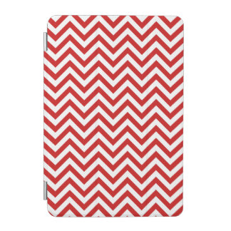 Red and White Zigzag Stripes Chevron Pattern iPad Mini Cover