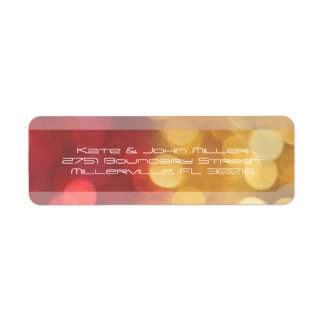 Red and Yellow Abstract Lights Return Address Return Address Label