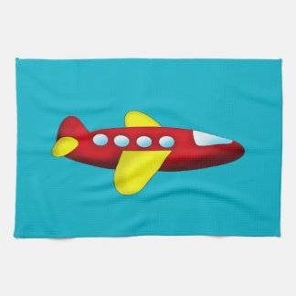 Red and Yellow Airplane Hand Towel