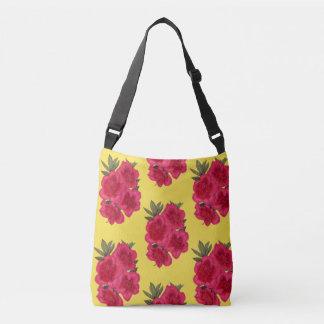 Red And Yellow Azalea Flower Crossbody Bag