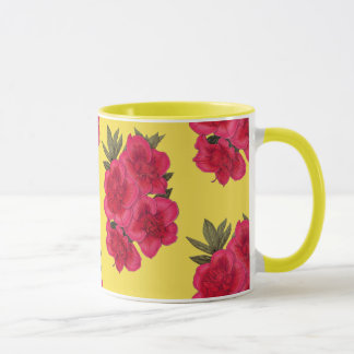 Red And Yellow Azalea Flower Mug