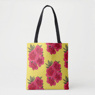 Red And Yellow Azalea Flower Shopping Tote