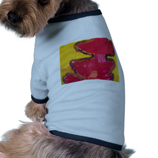 Red and Yellow Bold Abstract Art Pet Clothes