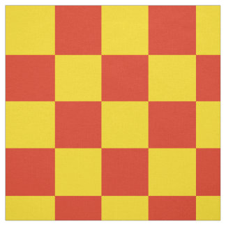 Red and yellow checkerboard pattern fabric