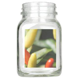 Red and Yellow Chilli Plant Mason Jar