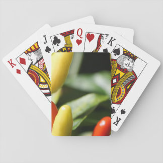Red and Yellow Chilli Plant Playing Cards