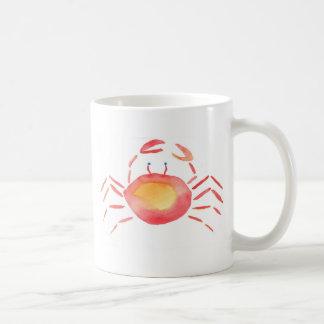 Red and yellow crab coffee mug