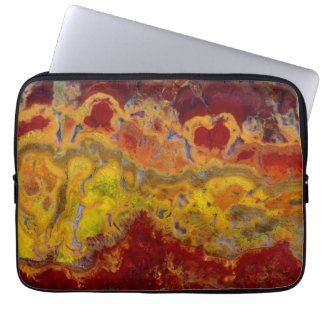 Red and yellow Crayloa Jasper Laptop Sleeve