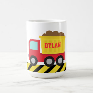 Red and Yellow Dump Truck, For Kids Coffee Mug