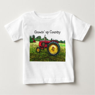 Red and Yellow Farm Tractor Infant T-Shirt