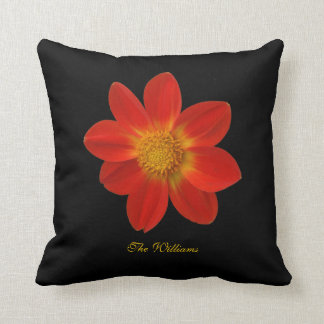 Red and Yellow Flower Blossom Pillow Throw Cushions