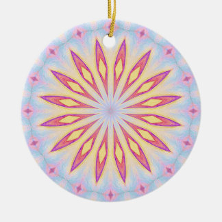 Red and Yellow Flower Ceramic Ornament