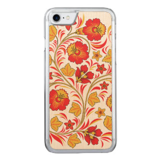 Red and Yellow Flowers Ornament Carved iPhone 8/7 Case