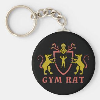 Red and Yellow Gym Rat Keychain