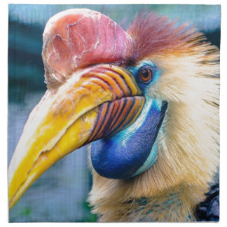 Red and Yellow Hornbill Napkin