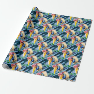 Red and Yellow Hornbill Wrapping Paper