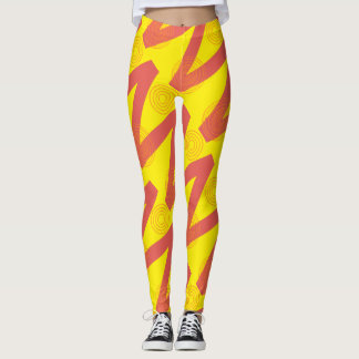 Red and yellow leggings