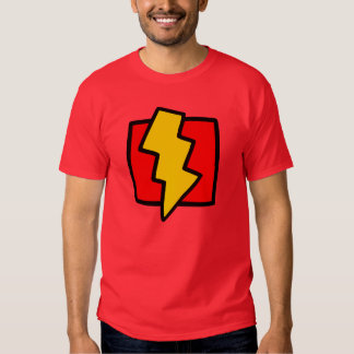Red and Yellow Lightning Bolt T-shirt