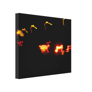 Red And Yellow Lights Stretched Canvas Print