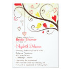 Red and Yellow Love Birds Bridal Shower Invitation