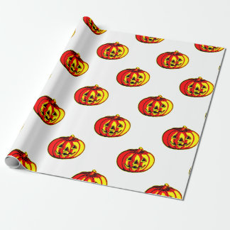 Red and Yellow makes Orange Pumpkin Wrapping paper