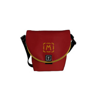 Red and Yellow Monogram Messenger Bag
