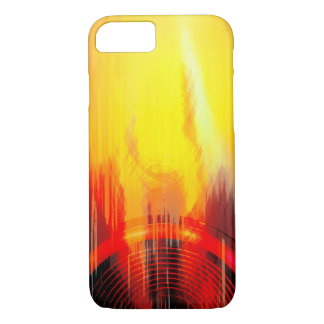 Red and yellow music speaker iPhone 7 case