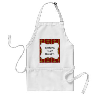 Red and Yellow Orange Crosses Tattoo Art Adult Apron