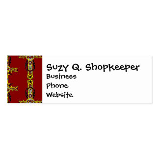 Red and Yellow Orange Crosses Tattoo Art Pack Of Skinny Business Cards