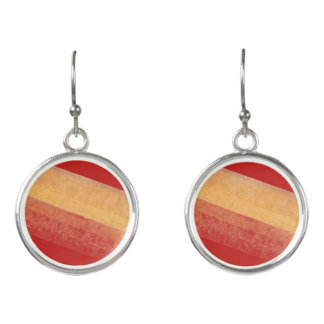 Red and Yellow Paint Effect Earrings
