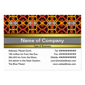 Red and Yellow Pattern Small Business Card Templates