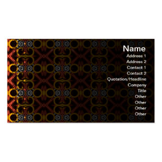 Red and Yellow Pattern Small Business Cards